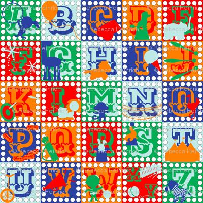 Alphabet Circus Blocks