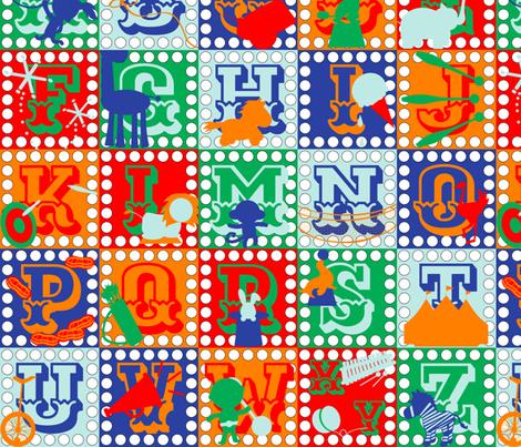 Alphabet Circus Blocks fabric by dahliabunny on Spoonflower - custom fabric