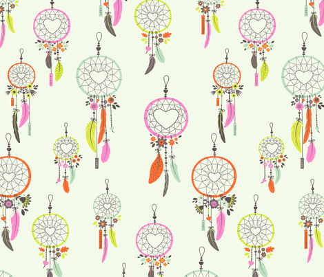 Bohemian Love fabric by zesti on Spoonflower - custom fabric