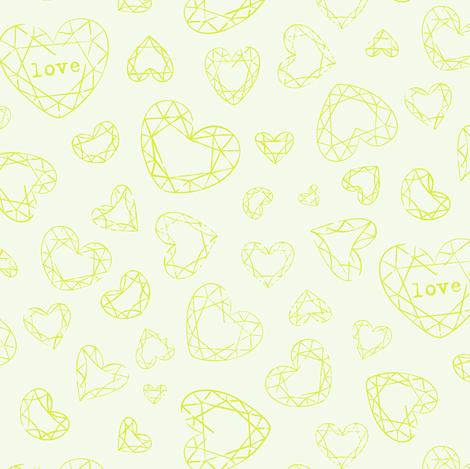 Bohemian Love geo hearts fabric by zesti on Spoonflower - custom fabric