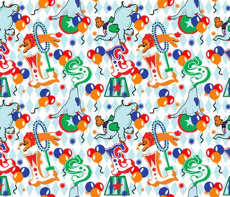 Circus Animal Alphabet  fabric by lanrete58 on Spoonflower - custom fabric