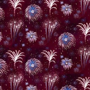 Summer Fireworks Show in red, white, and blue