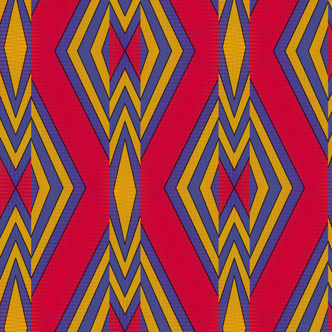 Shield and Stream (Red) fabric by david_kent_collections on Spoonflower - custom fabric
