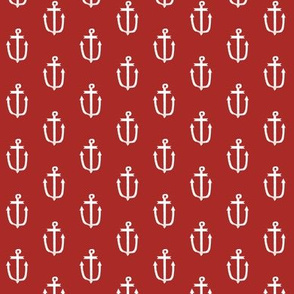 red anchor fabric