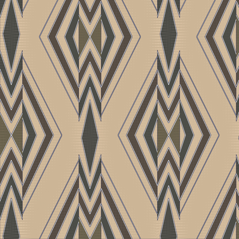 Shield and Stream (Taupe) fabric by david_kent_collections on Spoonflower - custom fabric