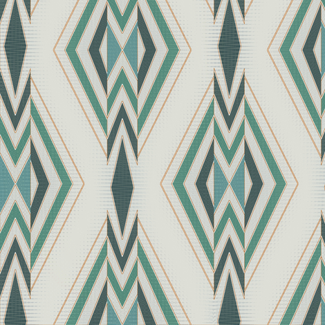 Shield and Stream (Green) fabric by david_kent_collections on Spoonflower - custom fabric