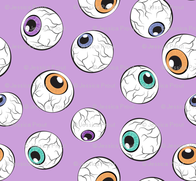 crazy eyes - halloween purple