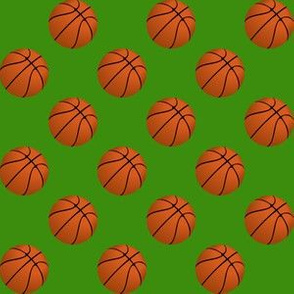 One Inch Basketball Balls on Apple Green