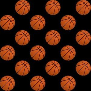 One Inch Basketball Balls on Black