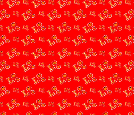 L is for Lion fabric by cmariedesign on Spoonflower - custom fabric