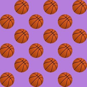 One Inch Basketball Balls on Lavender Purple
