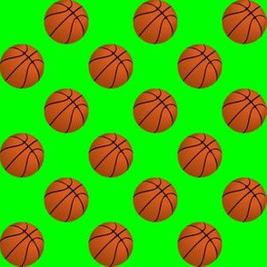 One Inch Basketball Balls on Lime Green