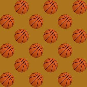 One Inch Basketball Balls on Matte Antique Gold