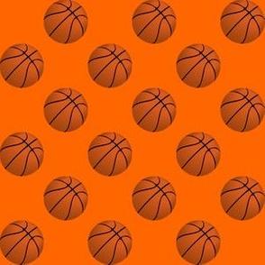 Basketball Balls on Orange
