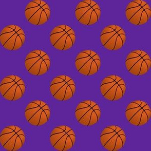 One Inch Basketball Balls on Purple