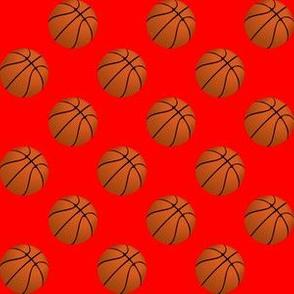 Basketball Balls on Red