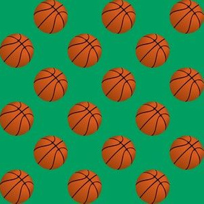 One Inch Basketball Balls on Shamrock Green