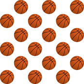 Basketball Balls on White