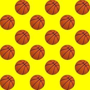 Basketball Balls on Yellow