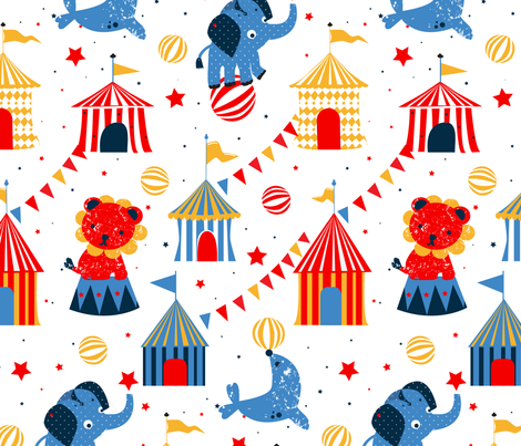 circus_retro fabric by pixabo on Spoonflower - custom fabric