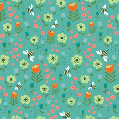 Beeeeezzz fabric by zesti on Spoonflower - custom fabric