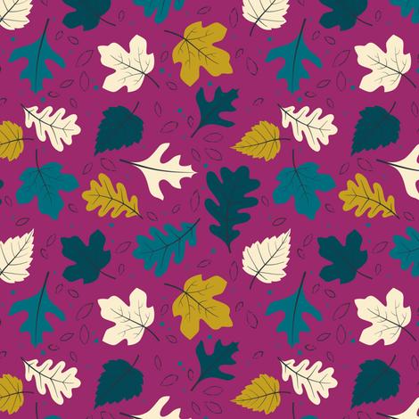 Harvest Leaves fabric by zesti on Spoonflower - custom fabric