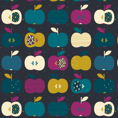 Harvest Apples fabric by zesti on Spoonflower - custom fabric