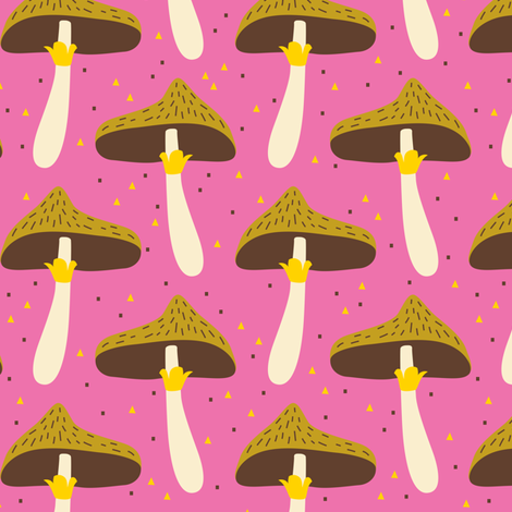 Harvest Mushrooms fabric by zesti on Spoonflower - custom fabric