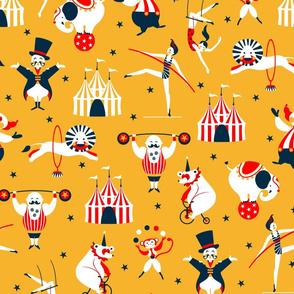 retro circus yellow