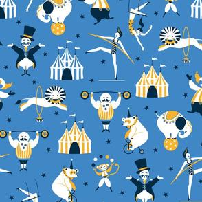 retro circus blue