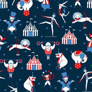 retro circus navy
