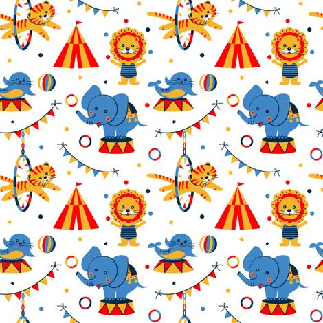 Funny circus fabric by olgart on Spoonflower - custom fabric