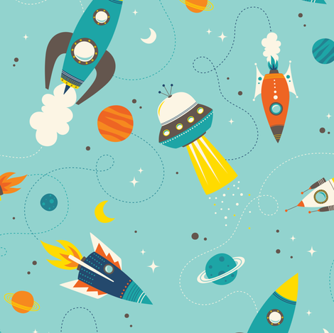 Off To Space fabric by zesti on Spoonflower - custom fabric