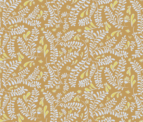 Thread of Gold Morris Vine fabric by rwpattern on Spoonflower - custom fabric
