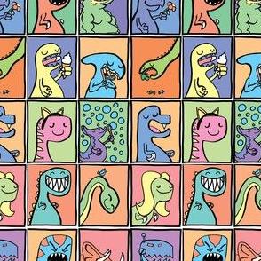 Cute Dinosaur Childrens Illustrations Set 1