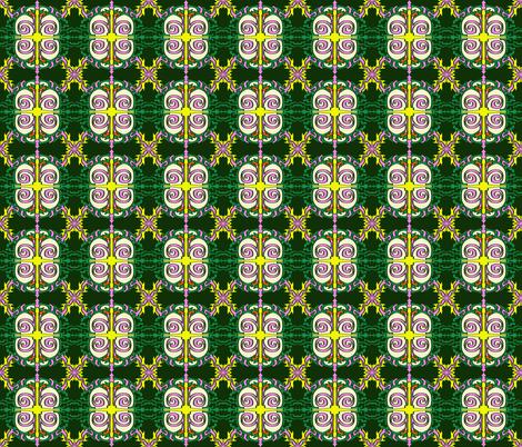 Swirly Pattern Green fabric by antonybriggs on Spoonflower - custom fabric