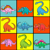 Cute Dinosaur Grid - Dino Kids