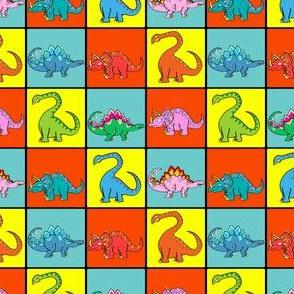 Cute Dinosaur Grid - Dino Kids