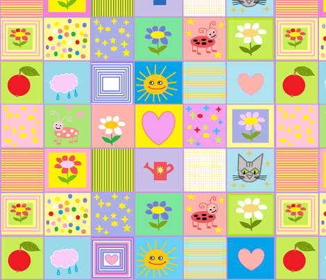 Baby Quilt Large fabric by palusalu on Spoonflower - custom fabric
