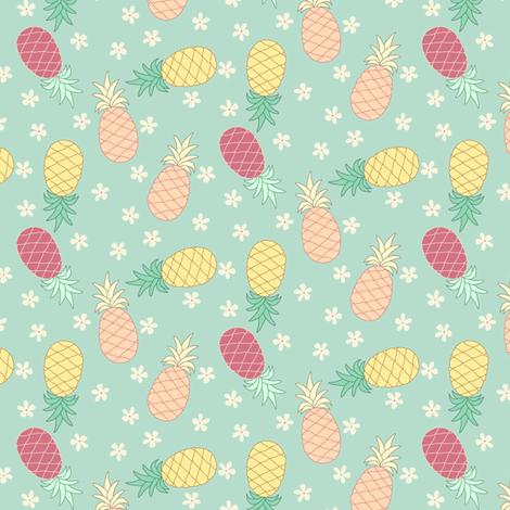 Tropical Pineapples fabric by christina_steward on Spoonflower - custom fabric