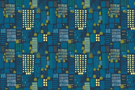 City Nightlife by Friztin fabric by friztin on Spoonflower - custom fabric