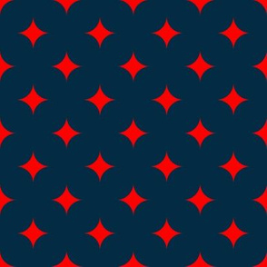Circus Diamond - Red, Navy