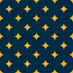 Circus Diamond - Yellow, Navy