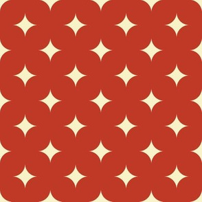 Circus Diamond - Vintage Cream, Red