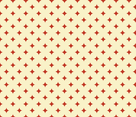 Circus Diamond - Vintage Red, Cream fabric by fernlesliestudio on Spoonflower - custom fabric