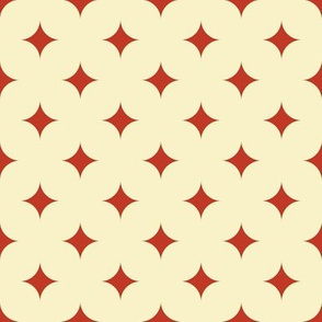 Circus Diamond - Vintage Red, Cream