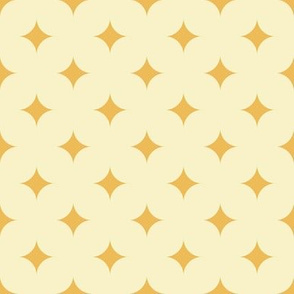 Circus Diamond - Vintage Yellow, Cream