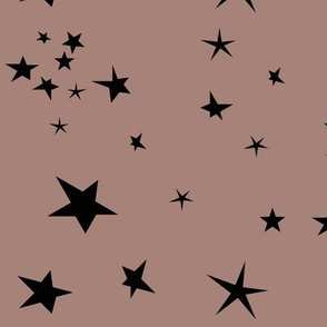 stars - sky at night black on dusty cedar mauve winter 17 || by sunny afternoon