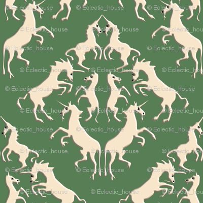 Runicorn_damask_on_bright_olive_with_darker_shadows_preview
