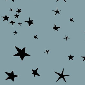 constellation - sky at night stars black stars on dusty blue || by sunny afternoon